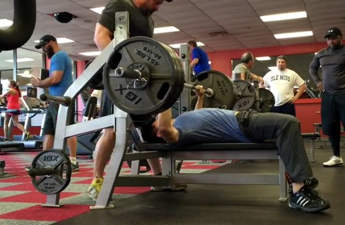 410 RAW bench press at 154 pounds