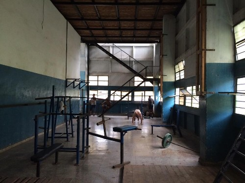 Cuban Wrestling Weight Room